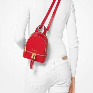 Michael Kors Rhea Mini Perforated Leather Backpack